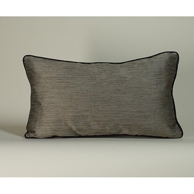 'Plain Piping' Brown 12x20-inch Decorative Pillow