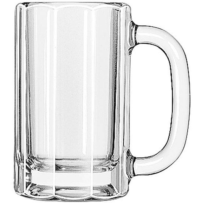 Libbey Paneled 12-oz Glass Mug (Pack of 12)