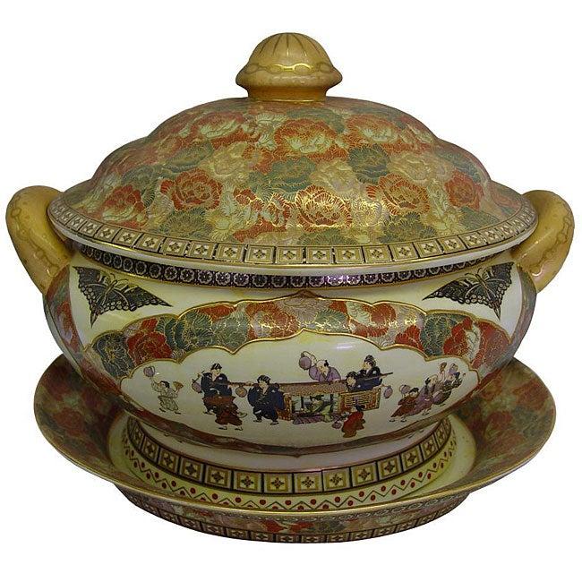 Satsuma Rose Porcelain Tureen
