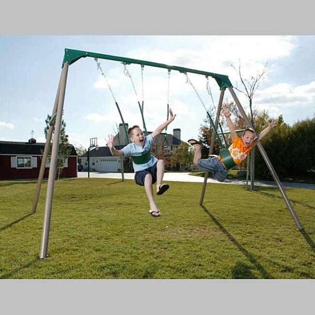 Lifetime A-Frame Swing Set