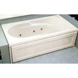 Jacuzzi Ovelle Este 72 x 42-inch Jetted Tub; White