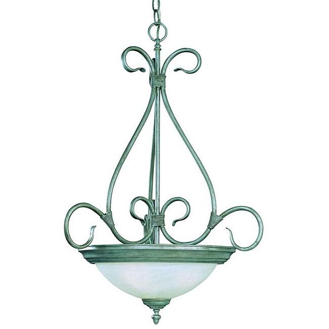 Savoy House Piedmont 3-light Pewter Bowl Pendant