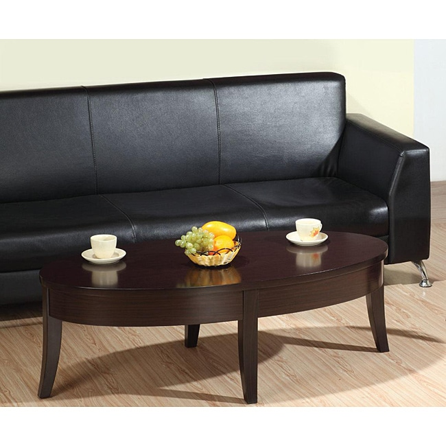 Furniture of America Iri Dark Brown Oval Coffee Table