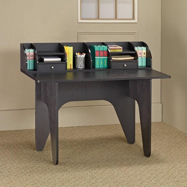Furniture of America Vio Black Office Desk/ Mini Hutch