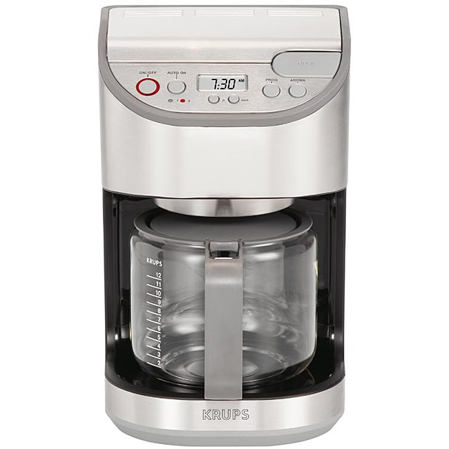 Krups Drip Coffee Maker : Krups KM4065 12-cup Automatic Drip Stainless Steel Coffee Maker - 12981176 - Overstock.com ...