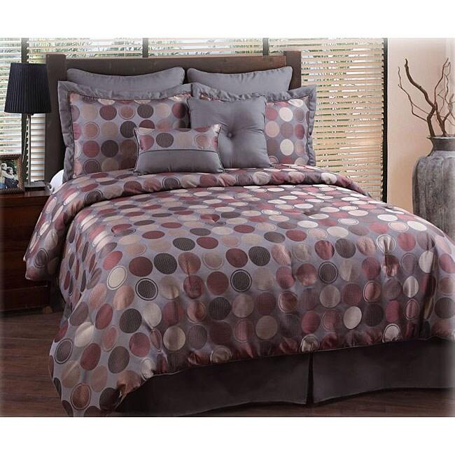 Gallery Grey/ Plum 8-piece Comforter Set