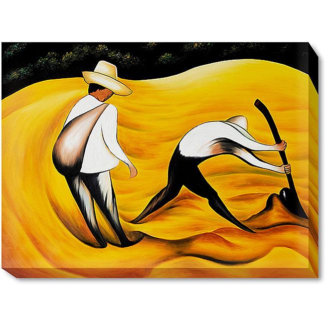 Diego Rivera 'Peasants' Canvas Art