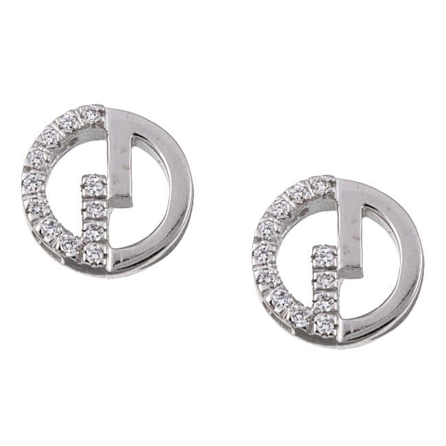 Gucci 18k Gold Earrings Gucci 18k White Gold Diamond