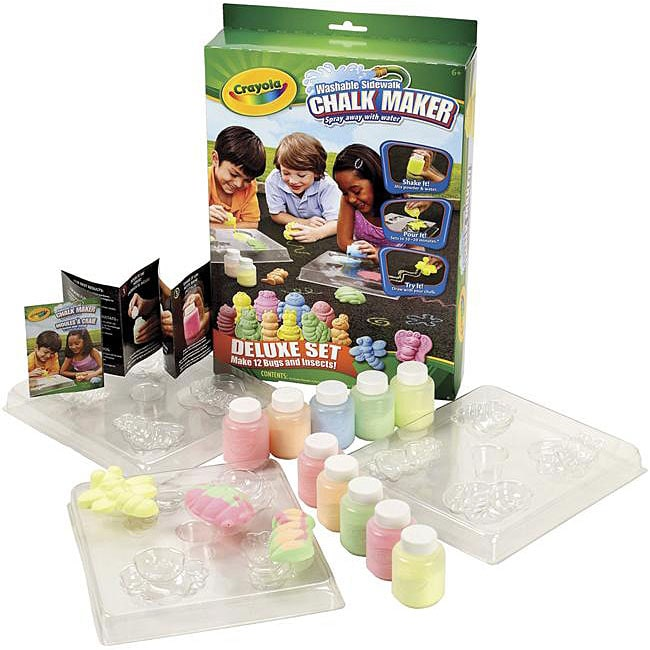 Crayola Bugs and Insects Sidewalk Chalk Maker Kit
