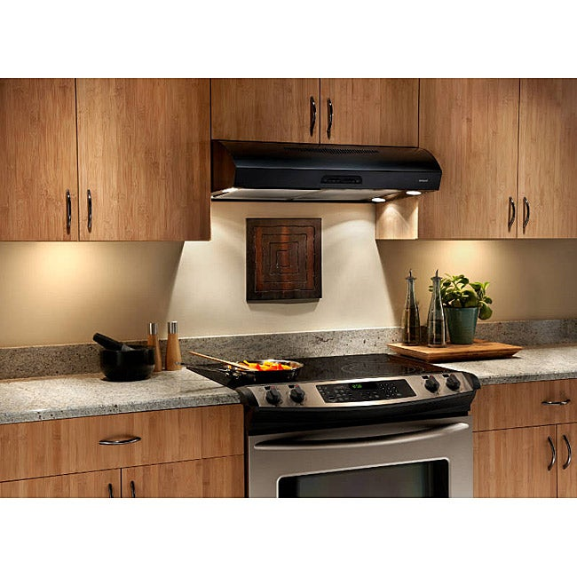Broan Evolution 2 Series 30 Inch Black Under Cabinet Range