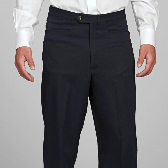Sansabelt Men's Navy Gabardine Twill Trousers