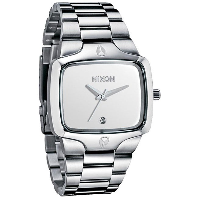 Nixon Men's 'Player' White Dial Stainless Steel Watch