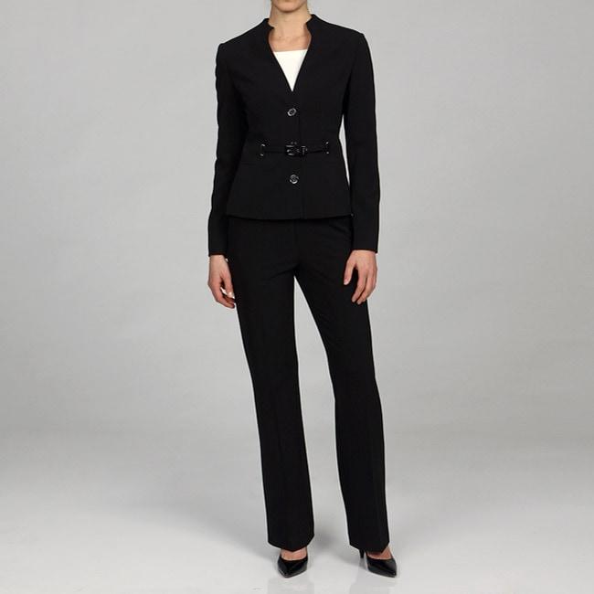 Lastest Calvin Klein Women39s Charcoal 3button Jacket Pant Suit  13528115