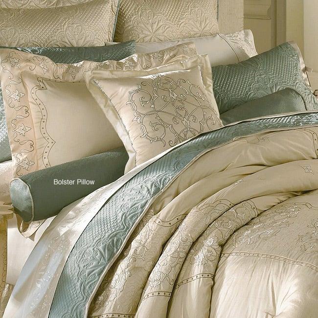 Luxe Versailles 'Loire' Silk Decorative Bolster Pillow