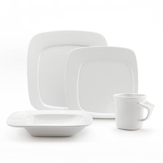 Studio Nova by Mikasa Gourmet Basic Compose White 16-piece Dinnerware Set