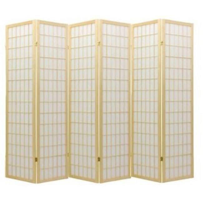 Oriental Shoji Natural 6-panel Room Divider Screen