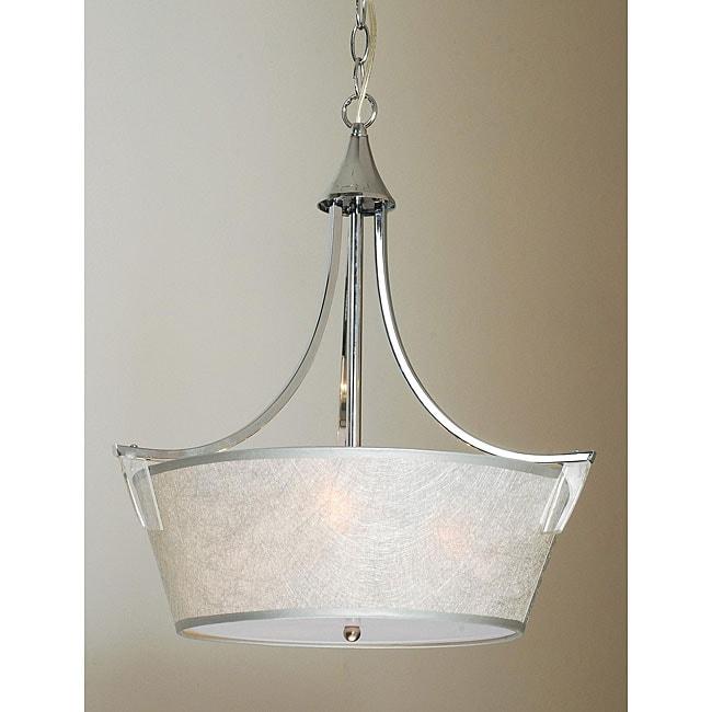 Indoor 3-light Chrome Chandelier