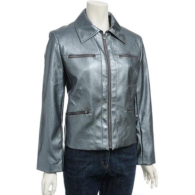 Nuage Women's Pearlized Leatherette Jacket