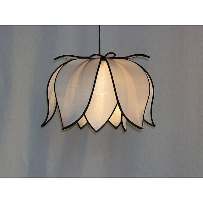 Hanging Blooming White Lotus Lamp (Vietnam)