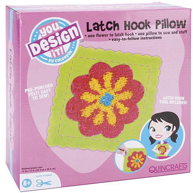 You Design It Latch Hook Flower Pillow Kit