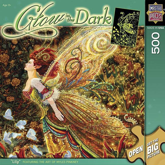 Glow in the Dark 'Lilly' 500-piece 13-inch x 19-inch Jigsaw Puzzle