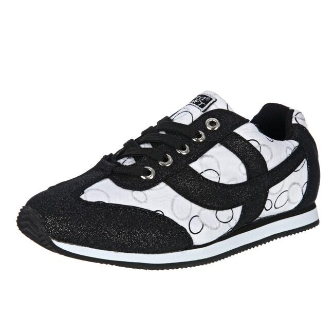 Gotta flurt women 39 s black 39 fish shark 39 sneakers 13022344 for Fish tennis shoes