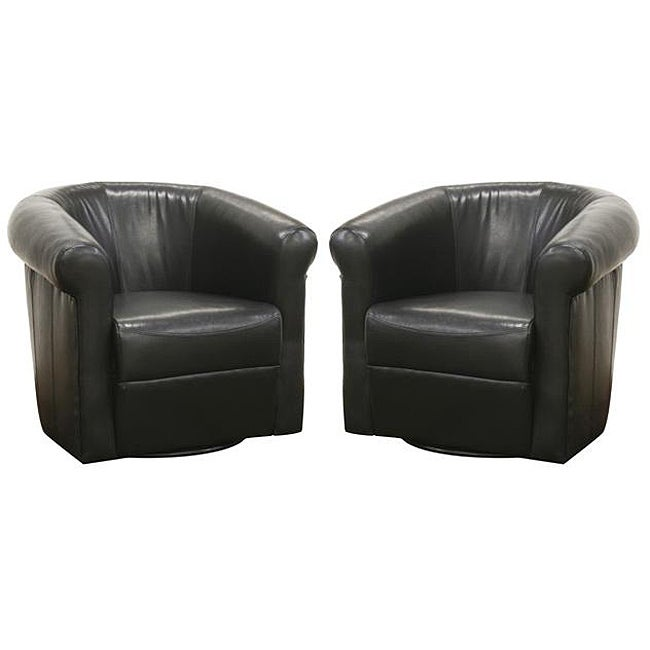 Julian Black Faux Leather Club Chair