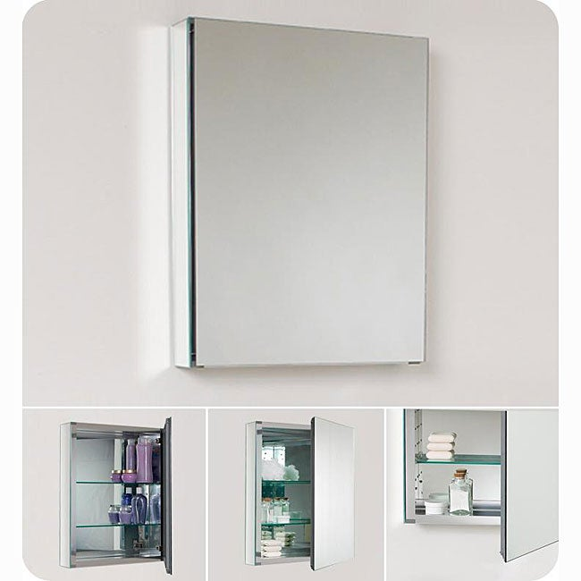 fresca small bathroom mirror medicine cabinet overstock shopping