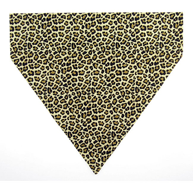 Ruff Stuff USA Leopard Print Dog Collar Bandana