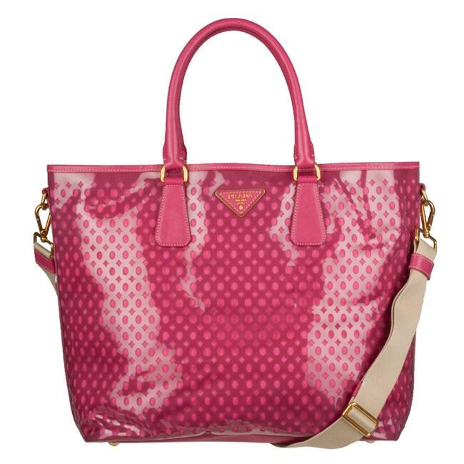 baby pink chanel purse - Prada 'Plex Fori' Perforated Vinyl Tote Bag - 13036430 - Overstock ...
