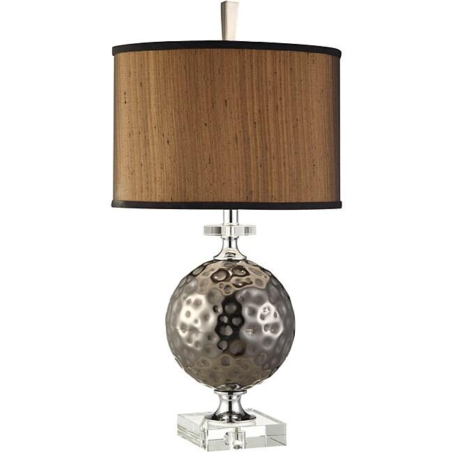 Spark Voyage 3-way Chrome/ Black Table Lamp
