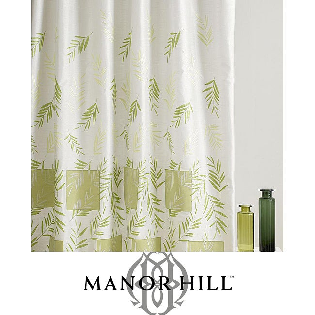 Manor hill embroidered leaf shower curtain overstock
