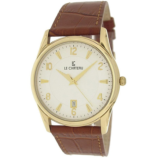 Le Chateau Men's '7077M' Classica Collection Textured Dial Watch