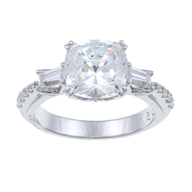 Tacori IV Sterling Silver Cubic Zirconia Engagement Ring