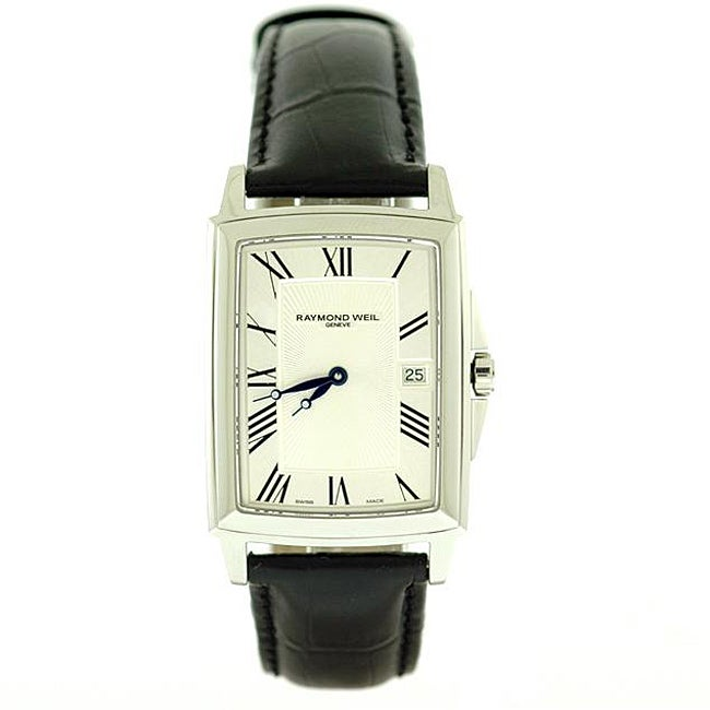 Raymond Weil Women's 'Tradition' Black Leather Strap Watch