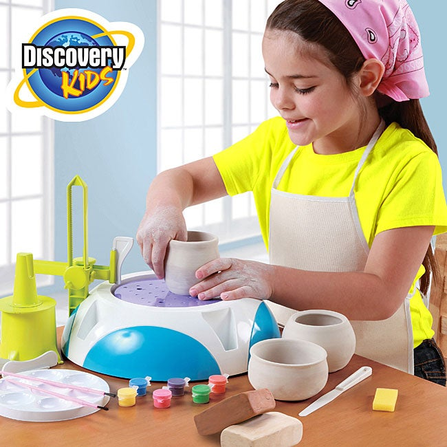 Discovery Kids Motorized Pottery Wheel with Clay