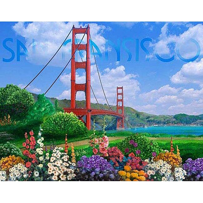 Corey Wolfe San Fransisco Gallery wrapped Canvas