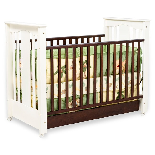 Roxy Modern Two Tone Stationary Crib 13040673