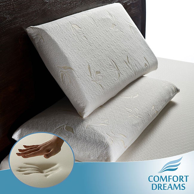 Comfort Dreams Select-A-Firmness Premium 4-pound Density Classic Queen-size Memory Foam Pillows (Set of 2)