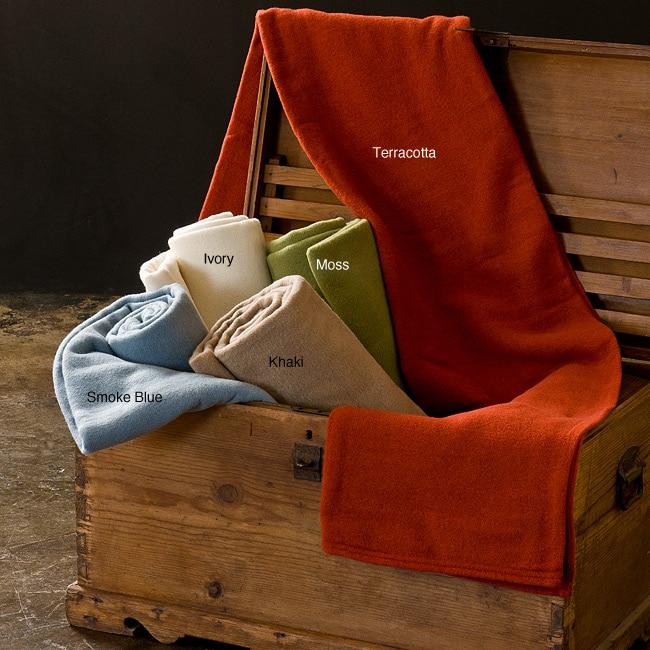 Evora Solid Washable Wool Blanket