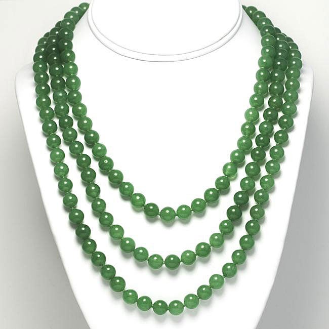 Jade Bead 60-inch Endless Necklace