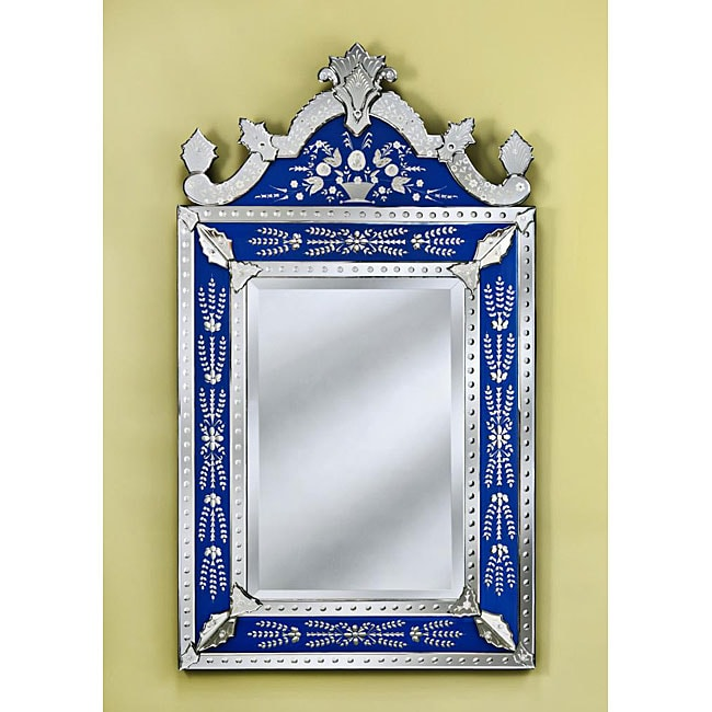 Mirrors by Venetian Natasha Large Blue Wall Mirror