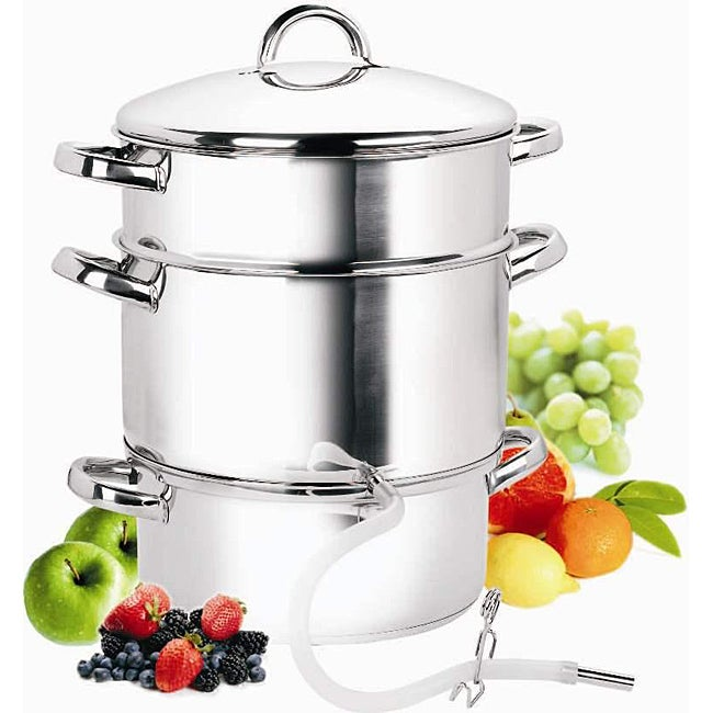 Stainless Steel 9.5-quart Juicer Steamer