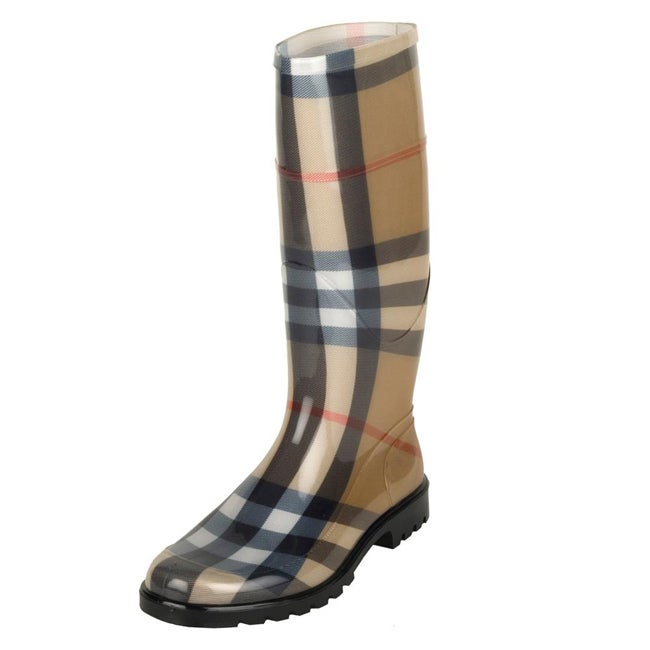 Perfect Women39s Cosmo Plaid Rain Boots  Walmartcom
