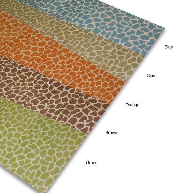 Giraffe Print Linen Table Runner