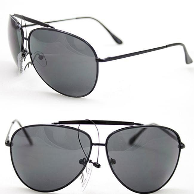 Women's Black Aviator Sunglasses