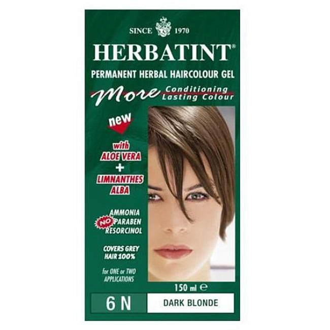 Herbatint 6N Dark Blonde Permanent Herbal 4.56-ounce Haircolor Gel (Pack of 3)