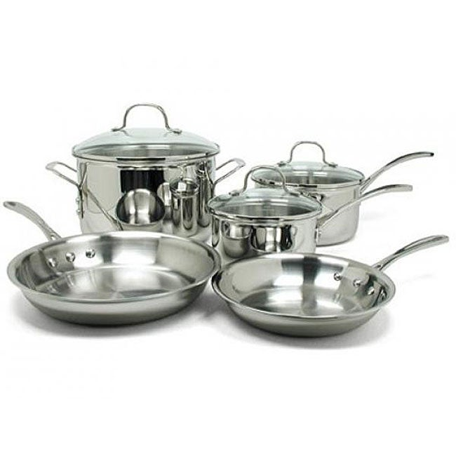 Calphalon Tri Ply Stainless 8 Piece Cookware Set