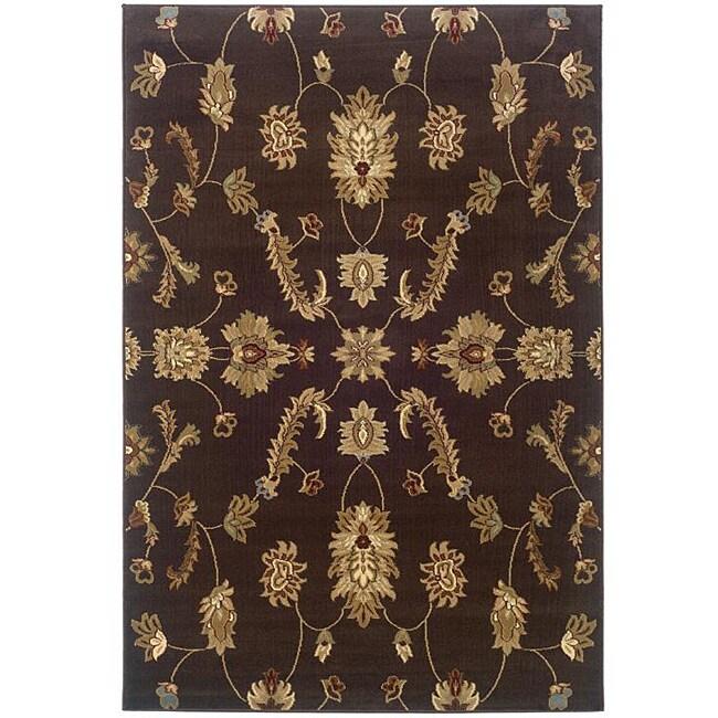 Indoor Brown Oriental Rug (9' x 13')