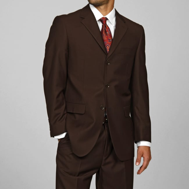 Oliver & James Giorgio Fiorelli Men's Brown 3-button Suit at mygofer.com